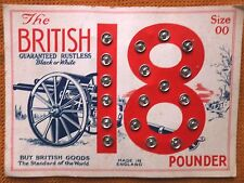 "VINTAGE FASTENERS ""THE BRITISH 18 POUNDER"""