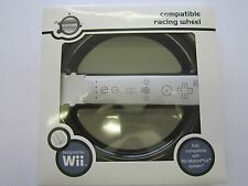GameOn Wii / MotionPlus Compatable Black Racing Steering Wheel for Controller