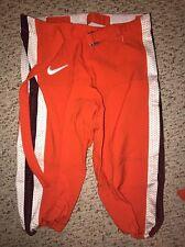 2014 Nike Virginia Tech Hokies #50 Jamieon Moss Orange Game Football Pants