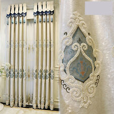 panel curtains Luxury European style velvet embroidered curtain and tulle
