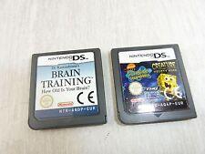Jeux pour console Nintendo DS, Brain Training, Bob l'éponge Squarepants