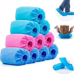 100pcs Disposable Shoe Cover Waterproof Dustproof Non-slip Non-woven Shoe Cover