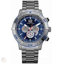 Nautica Men's Blue Dial S.S Chronograph Watch A36510G