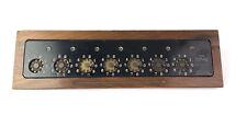 Antique The Lightning Calculator Adding Machine, Hardwood base