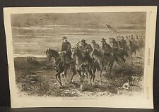 Harper's Weekly Single Pg The Indian War- Sheridan on the Move 1868 B5#39
