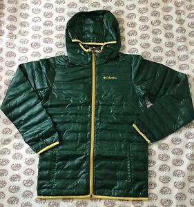 NWT~ Columbia Big Boys Flash Forward Hooded Down Jacket SZ XL ~ Forest