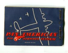 Vintage Airline Air Mail Label Booklet PAN AM Complete Correo Aereo