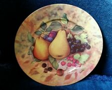 EMAIL DE LIMOGES STILL LIFE FRUIT Pears SALAD PLATE – VERITABLE PORCELAINE