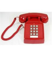 Cortelco 250047-VBA-20M Traditional Red Desk Phone - Ringer Volume ITT-2500-V-RD
