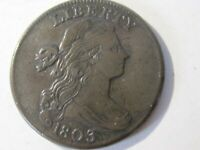 1803 Draped Bust Large Cent, Small Fraction,   S-251   EF Cond  Lot# 2020-146