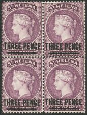 ST HELENA-1887 3d Deep Mauve Block of 4 Sg 41 lower stamps unmounted MM V43749