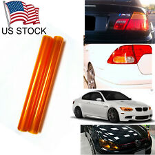 "12""x48"" Amber Car Headlight / Fog Light /Taillight Tint Film Wrap Turn Signal"