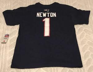 Cam Newton 1 New England Patriots Jersey Shirt Boys Medium 10/12 Team Athletics