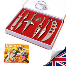 More details for naruto keychain blade anime pendant kunai sword shuriken knife cosplay prop gift