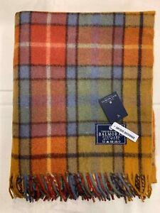 100% Wool Blanket | The House Of Balmoral Scotland | Antique Buchanan | Tartan