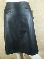 VALEUR  29 € YESSICA C&A Taille 56 NEUF jupe doublée noire imitation cuir