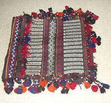 Afghanistan Collectible Horse Comel Back Saddle Salt Grain Bag Rug Carpet Klim