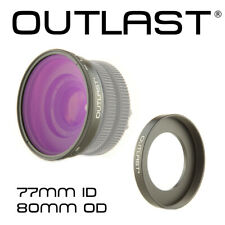 OUTLAST 77mm Step-Up Ring x 10mm Deep x 80mm OD Cinema Step-Up Ring 77mm 80OD