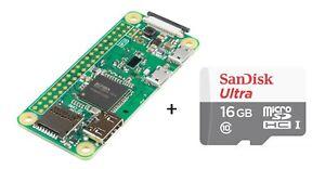 Original Raspberry Pi Zero W Wireless Bluetooth 4.1 WiFi + 16GB SDCard