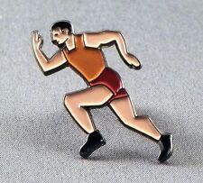 METALLO SMALTO Spilla Badge Atleta Runner da Corsa Sportive maratona Sprinter
