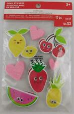 Creatology Valentine's Day Foam Stickers Google Eyes 16 PC New Fruit
