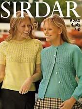 Knitting in SirdarTwin set top cardigan 5250 knitting pattern