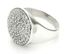 Cluster Diamonds Sterling Silver Ring