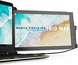 "Mobile Pixels Trio Max Portable Monitor for Laptops, 14"" Full HD IPS Screens"