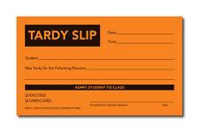 TARDY SLIP PAD - ORANGE - Cool School Studios - 10 Pads - 100 Sheets per Pad