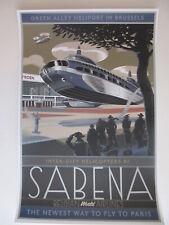 Laurent Durieux Sabena Silk Screen Travel Poster Print Mondo Artist