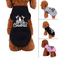 Dog Christmas T-shirt Puppy O Neck Short Sleeve Vest Winter Warm Pet Clothes wel