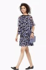 7a02ac55bd982 Kate Spade New York Hydrangea Silk Chiffon Printed Tiered Skirt XS $178