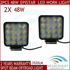 2pcs 48W LED Work Light Bar Spot Beam Offroad Driving Mining UTE SUV 4X4 Boat