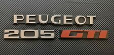 Peugeot 205 GTI Reproduction Rear Badge Set  Complete Set