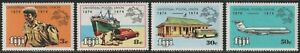 1974 Fiji SC# 347-350 - Centenary of the UPU - M-H