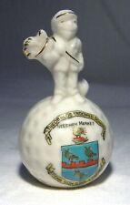 More details for arcadian golfer / golf ball theobalds endowed school needham market rare  (b60)