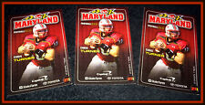 MARYLAND TERRAPINS LOT OF 3 2009 FOOTBALL POCKET SCHEDULES TURNER ON COVER