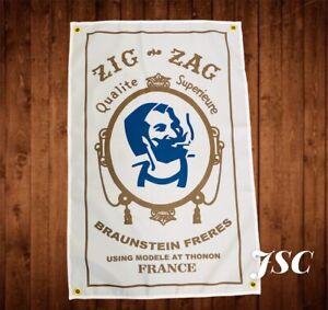ZIG ZAG Banner Flag Harley Vintage Antique Biker USDM Primus Poster JSC88