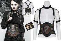 Corset serre-taille harnais top steampunk gothique cuir fermoir dragon PunkRave