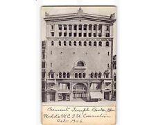 ST2032:  1906 Postcard: TREMONT TEMPLE BOSTON MA WCTU CONVENTION OCT 1906