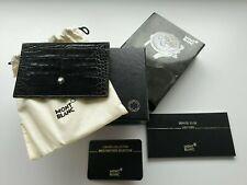 Mont blanc Black Crocodile Leather Card Holder