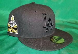 Sportsworld 165 Exclusive Black LA Dodgers 1st LA World Series Patch Yellow UV