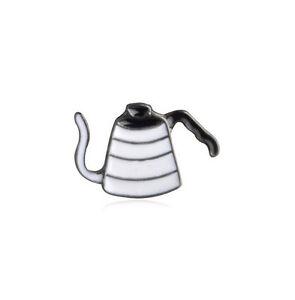 New Barista Cafe Geek Gooseneck Jug Kettle V60 Pour Over Coffee Pin Brooch Badge