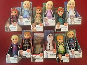 "Disney Frozen 2 COMPLETE 12 Doll Set of 3"" Mini Poseable Elsa Anna Olaf HTF"