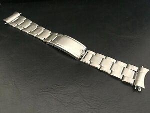 Vintage Rolex 20 mm S/S Oyster Expandable Riveted Band Bracelet Pre-6636 End 80