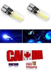 2pcs COB Glass 5W Blue LED T10 194 168 Map Dome License Plate Light Bulb
