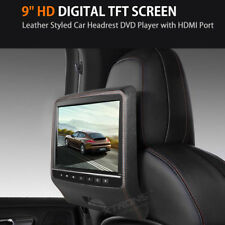 "9"" Leather-Style Car Headrest Monitor DVD Player HDMI for Porsche/Fiat/MINI/BMW"