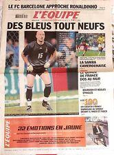 L'Equipe Journal 20/6/2003; Le FC Barcelone approche Ronaldinho/ 100 ans du Tour