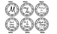 108 Personalized WEDDING LABELS Damask Style Candy Kiss