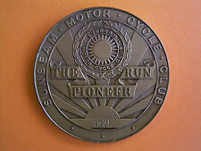 Sunbeam Motor Cycle Club - The Pioneer Run - Participants Medal 1971